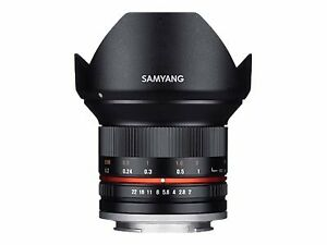 Samyang Wide-angle lens 12 mm f/2.0 NCS CS compatible with Canon EF-M 1220502101