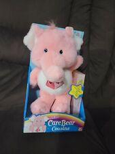 Care Bears Cousins, Lotsa Heart Elephant, Pink, New in Box. 2004.