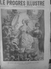 1903 CARNAVAL FRAGMENT TABLEAU P.AVRIL APPRETS BAL