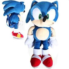 """Sonic The Hedgehog plush backpack 20"""" inches For Kids - Licensed Product"""