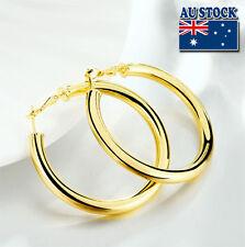 Wholesale 18K Yellow Gold Filled Round Hoop Earrings 5mm Women's Elegant Gift