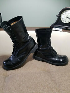 Carolina Black Leather Combat Boots MADE IN USA