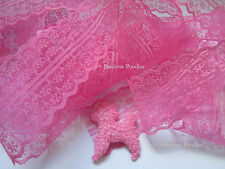 Net Lace Trim Dark Pink 6 Meters 45 mm wide Bulk Lace.