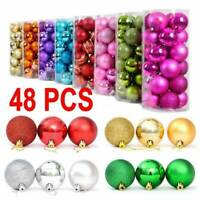 48Pcs Bulk Christmas Tree Xmas Balls Decor Baubles Party Wedding Ornament Gift