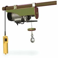 440 lbs Lift Electric Hoist Sportsman Series Chain Fall Winch Block And Tackle