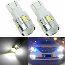 2 x T10 W5W 5630 6 SMD Car LED Wedge Side Light Bulb Lamp 168 194 192 158 White
