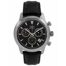 Rotary GS90125/04 Mens Swiss Made Monaco Chrono Leather Strap Watch RRP £395