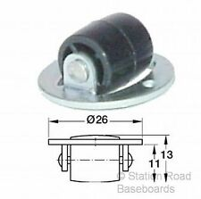 6 Turntable Rollers for Model Railway Train Baseboard, Sector Plate, Traverser