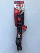 Kong Comfort Collar Size Medium 20-40cm black.HIGH-VIS REFLECTIVE DETAILING