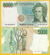 Italy 5000 Lire p-111b 1985 XF Banknote
