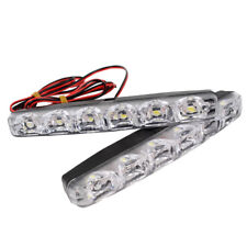 12V Flexible Car Daytime Running Light Fog DRL Lamp Driving Day Lights 6 LED