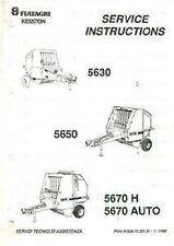 Fiatagri hesston 5630 5650 5670 h 5670 auto rond presse atelier service manual