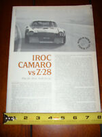 1978 CAMARO Z28 IROC RACE CAR vs. Z-28 STREET CAR - ORIGINAL ARTICLE