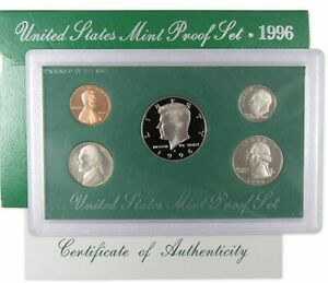 1996 S Proof Set U.S. Mint Original Government Packaging OGP Collectible