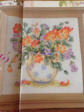 (L) Vase Of Freesia Flowers Cross Stitch Chart