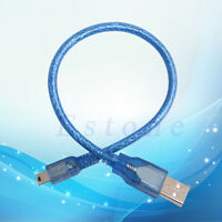 New Blue Short USB 2.0 A Male to Mini 5 Pin B Data Charging Cable Cord Adapter