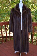"Magnificent Natural Brown Female Mink ""Lunaraine""Full length Mink Coat S, M, M/L"