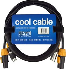 Blizzard Lighting DMX5PCTRUE-6 Combo PC True1 14 AWG+ 5 pin DMX  6' length