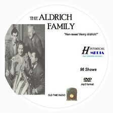 THE ALDRICH FAMILY - 96 Shows Old Time Radio In MP3 Format OTR On 1 DVD