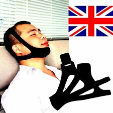 NEW Anti Snore Stop Snoring Sleep Apnea Strap Belt Jaw Solution Chin Support UK