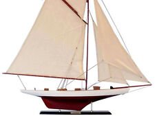 "Columbia 42""  -Wood Sailboat Model - Large Model Sailing Boat - Sailboat Decor"