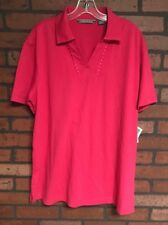 CUBAVERA Women's Casual Polo Shirt Size Large