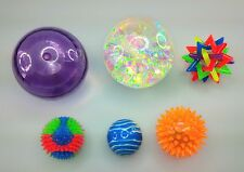 NEW 6 Tactile Visual Bouncy Balls Bag Special Needs Autism Toys SEN Play