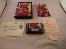 Spider-Man  (Sega Genesis, 1991) COMPLETE w/ Box manual game WORKS! Spiderman