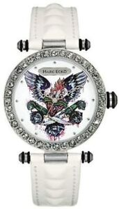 Marc Ecko Women's The Said White Leather Band Strap 40mm Watch