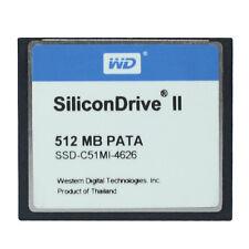 WD SiliconDrive 512MB PATA CompactFlash CF Compact Flash Memory card