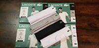 1 Lacoste Essentials T-Shirt Mens V Neck Tee S M L XL Cotton Classic & Slim Fit