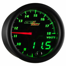 MaxTow Volt Voltage Gauge Meter Kit w Green Digital Analog Readout  MT-DV05