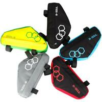 Triangle Bicycle Frame Front Tube Bag Cycling Bike Pouch Holder Saddle Pannier #
