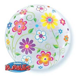 """22"""" BUBBLE BALLOON """"SPRING FLORAL PATTERN"""" PARTY DECORATION - STRETCHY"""