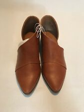 New UNIVERSAL THREAD Wenda Faux Leather Cognac Brown Cut Out Booties Womens 5.5