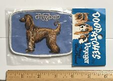 Nip Afghan Hound Dog Breed Souvenir Embroidered Voyager Patch