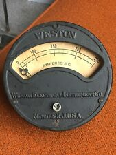 Vintage Industrial Antique Weston Electrical Instruments Amp Meter, Panel Mount