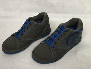 Heelys Propel 2.0 Shoe Skates Gray Blue #770508 Lace Up Unisex Youth Size US 6