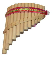 ARTESANAL  PAN FLUTE  13 PIPES  NATURAL BAMBOO FROM PERU   ITEM IN USA