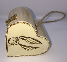 Harry Potter Heart Shaped Box. Golden Snitch, Name Added At No Extra Cost.