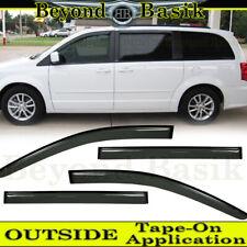 For 2008-2019 Dodge Grand Caravan Smoke Door Vent Visors Window Rain Guards
