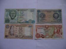 ZYPERN (CYPRUS). 4 BANKNOTEN (1982-2001)