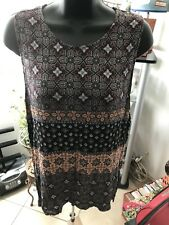 Sophie Rue Women's size XL Sleeveless Abstract Pattern Blouse