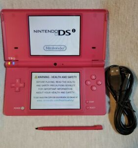 Nintendo DSi Boutique Pink Handheld System, USB charge cord, OEM stylus, NO Game