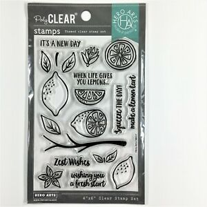 Hero Arts Zest Wishes Clear Stamp Set Lemon Tree Branch Leaves Sayings Phrases