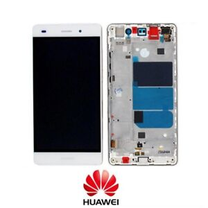 TOUCH SCREEN VETRO LCD DISPLAY Per Huawei Ascend P8 Lite ALE-L21 Bianco + FRAME