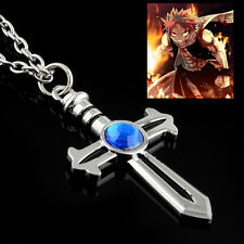 Anime Fairy Tail Gray Fullbuster Cross Pendant Alloy Necklace Collectible