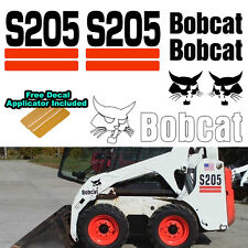 Bobcat S205 S 205 Skid Steer Set Vinyl Decal Sticker 7 PC SET + DECAL APPLICATOR