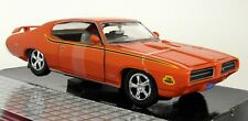Motormax 1/24 Scale - 1969 Pontiac GTO Judge Orange Diecast model car
