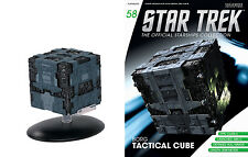 #58 Star Trek Borg Tactical Cube Die Cast Metal Ship-UK/Eaglemoss w Mag-FREE S&H